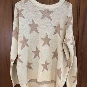 Oversized star glitter sweater